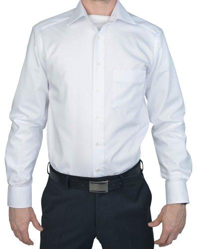Marvelis Modern Fit Hemd Langarm mit Brusttasche Popeline, Gr.38 Farbe: Weiß