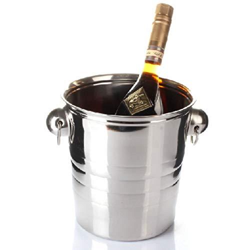 YSPS Cubo de Hielo de Acero Inoxidable, Cubo de Hielo de Cerveza de la Barra de KTV, Cubo de Hielo de Cerveza fría, Puede Mantenerse seco y frío, Llevar 5L