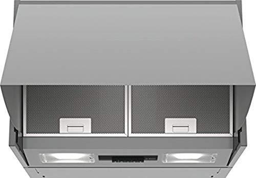 Bosch DEM63AC00 Serie 2 Zwischenbauhaube / D / 60 cm / Silber / wahlweise Umluft- oder Abluftbetrieb / Drucktastenschalter / 3 Leistungsstufen / Metallfettfilter (spülmaschinengeeignet)