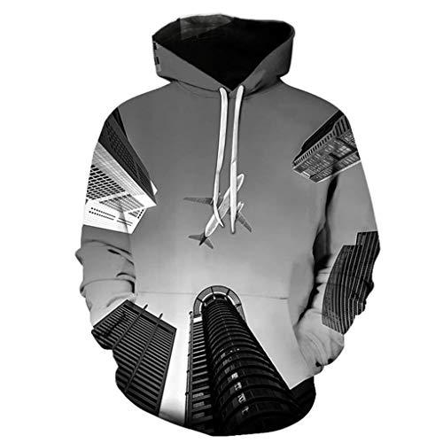 Mode 3D Sweat-Shirt Homme Pulls Femme O-Neck Ville Paysage Motif Hauts Imprim¨¦ V¨ºtements de Sport 008 Child Height 110cm