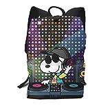 DJ Snoopy Casual Backpack Daypack School BookBag Laptop Bag Travel Bag