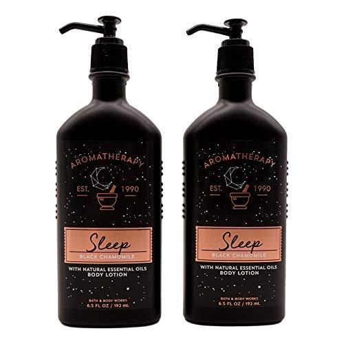 Bath and Body Works 2 Pack Aromatherapy Sleep Black Chamomile Body Lotion 6.5 Oz.