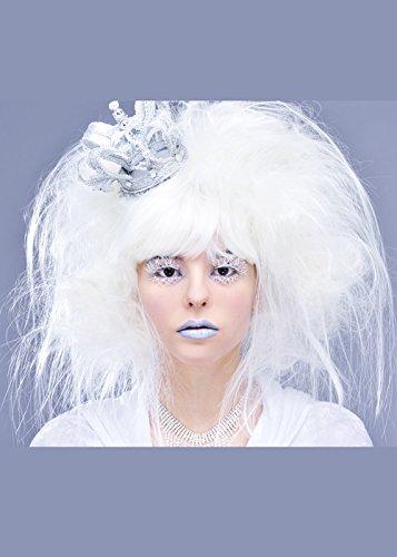 Magic Box Dames Blanches Perruque de sorcière Style Reine des neiges