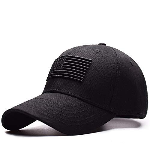 LGOO1 EE.UU. Bandera de malla Cap táctica militar del ejército sombrero bordado sombrero al aire libre Caza camuflaje gorras de béisbol táctico militar del operador Caps EE.UU. Bandera de Protección S