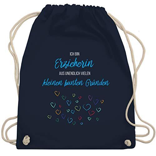 Shirtracer Sonstige Berufe - Erzieherin aus vielen kleinen Gründen - Unisize - Navy Blau - erzieherinnen tasche - WM110 - Turnbeutel und Stoffbeutel aus Baumwolle