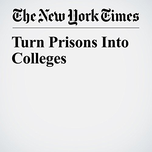 Turn Prisons Into Colleges audiobook cover art