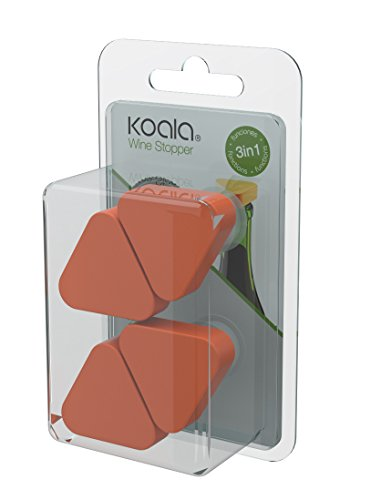 Koala Internacional Hosteleria Pack 4P TAPON Y ANTIGOTEO Naranja Koala 4 Botellas, Poliestireno, Talla Unica