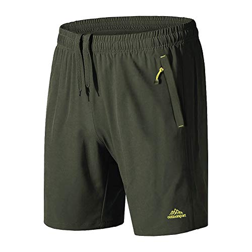 BIYLACLESEN Workout Shorts for Men Quick Dry Shorts for Men Lightweight Shorts for Men Running Shorts Men Gym Shorts for Men Climbing Shorts Outdoor Shorts ArmyGreen