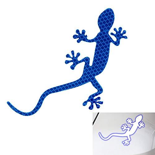 Gecko Reflective Strip Tape Sicherheitswarnzeichen Auto-Styling Auto-Dekor Autoscooter-Aufkleber Auto-Reflective-Aufkleber (Blau)