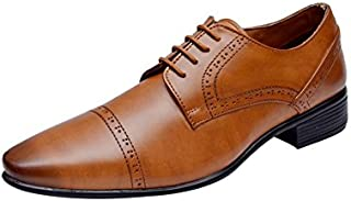 HiREL'S Men Tan Derby Office Formal Shoes