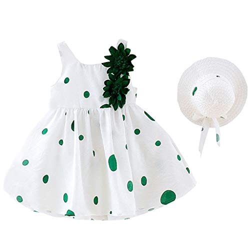 Julhold Kleinkind Kinder Baby Mädchen Sommer Schöne Print Blume Prinzessin Kleid + Hut Kappe Kleidung Outfits 0-3 Jahre