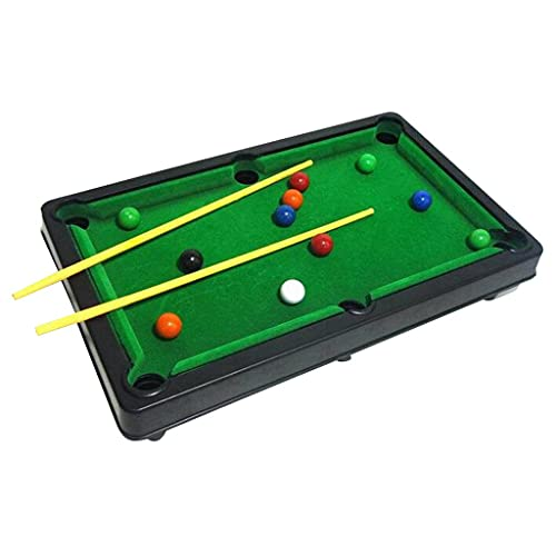OANGO Snooker Game Mini Table Top Pool Game Billiard Snooker Table Set,10 Balls 2 Stick Children Indoor and Outdoor Game/Toys Pack of 1