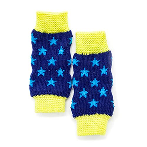 Easyeeasy Lindos Calcetines de algodón para Cachorros, Perros, Mascotas, Antideslizantes, con Fondo Abierto, Calentadores de piernas, Productos para el Cuidado de Las Mascotas