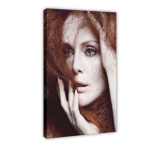 American Film And Television Attrice Julianne Moore 14 poster di tela di canapa decorazione della camera da letto Sport Paesaggio Ufficio Decorazione Camera Regalo 60 × 90 cm Frame-style1