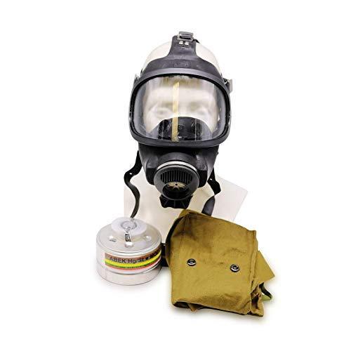 OldShop Gasmaske MSA Auer Set - Bundeswehr Gasmaske Replica Sammlerartikel Set mit Maske & Filter - Schwarz…