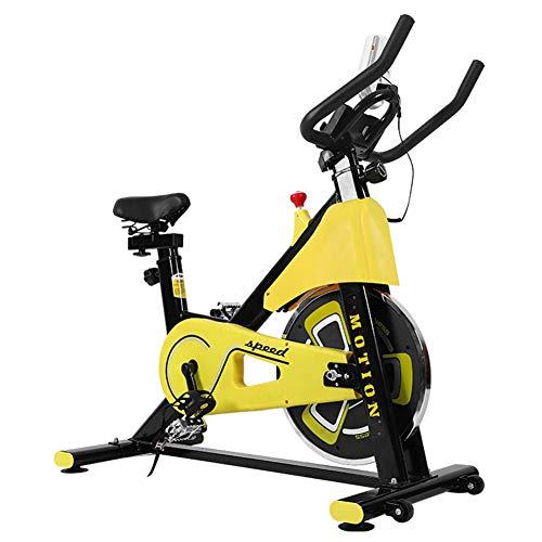 Bicicleta estática en el Interior para Ejercicio, con Pantalla LCD, Soporte para teléfono, Cinturón de Volante de la Unidad de Correa, para el Entrenamiento en casa, Entrenamiento Cardiovascular