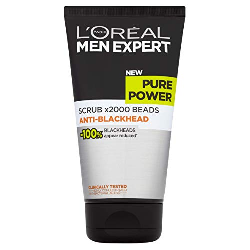 L'Oreal Men Expert - Scrub viso Pure Power, 150 ml