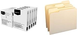 $36 » Amazon Basics Multipurpose Copy Printer Paper - White, 8.5 x 11 Inches, 5 Ream Case (2,500 Sheets) & 1/3-Cut Tab, Assorted...