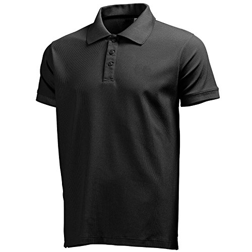 Helly Hansen Riftline Polo Manches Courtes Homme, Noir/Noir, FR (Taille Fabricant : XXXL)