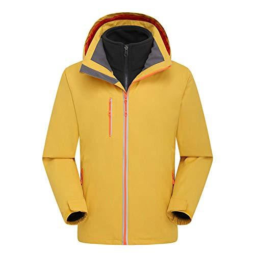 Heren Ski Wear Sets Heren Ski Jassen Ski Tops Hooded Windproof Regendicht Super Warm Geel