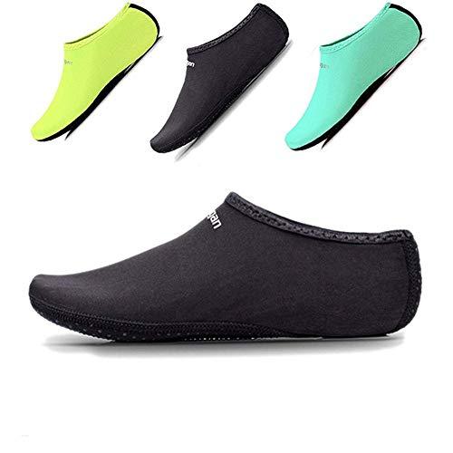 sportstorm Beach Volleyball Socken Damen Herren Kinder Sand Socken Schuhe Barefoot Quick Dry Aqua Socken für Tauchen Schwimmen Surfen Yoga Laufen, Schwarz , XL: W 7- 9/ M 6 - 8