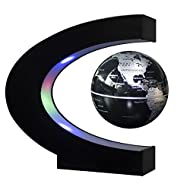 A good desk decoration Floating and rotating in midair This high tech gadget also comes with a LED light feature that makes it look very cool when turned on in the dark Operated by an electronically controlled magnetic system The magnetic above the g...