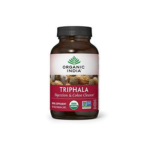 Organic India Triphala Herbal Supplement - Digestion & Colon Support,...