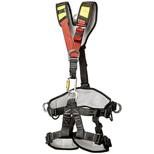 YXLONG Cinturón De Seguridad Escalada De árboles Protección contra Caídas del Cuerpo Equipo De Arnés De Rappel Equipo Protección De Medio Cuerpo,Black