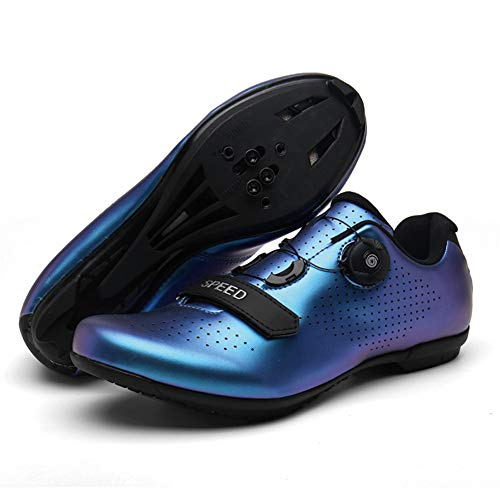 UYBAG Mens Professional Road Non-Slip Wearable Bike Shoes Biking Lock Shoes with Soft Inner Pad for Cycling Mountain Road Biking The Best Choice for Beginners,36