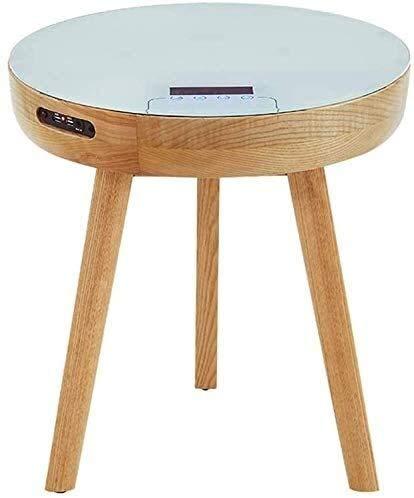 HLJ Kleiner Kaffeetisch, Modern Home tragbare Bluetooth-Lautsprecher 360 Surround HD-Sound-Heim Studio Smart Tabelle Multifunktionale USB-Lade Tabelle