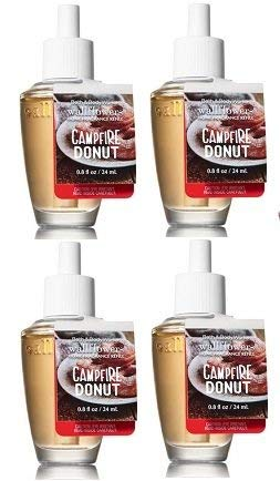 Bath and Body Works 4 Pack Campfire Donut WallFlower Fragrance Refill. 0.8 Oz.