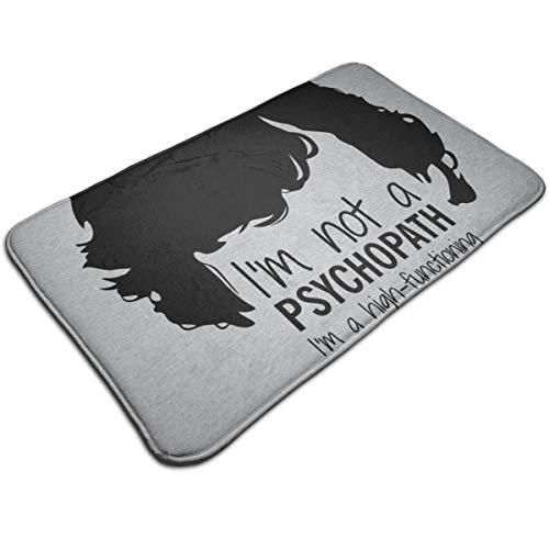 HUTTGIGH Sherlock Holmes - Alfombrilla antideslizante para puerta de entrada, para baño, cocina, 19.5 x 31.5 pulgadas, absorbente