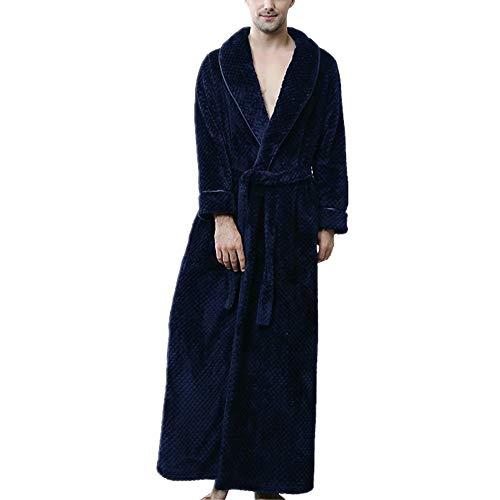 Albornoz para Hombres, Pijama de Microfibra (100% poliéster