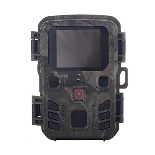 Poapo Mini cámara Trail, cámara de Juegos con visión Nocturna, 1080P HD 16MP, cámara compacta Impermeable con Pantalla LCD de 2'