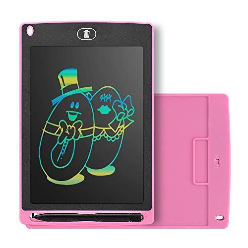 Anam Safdar Butt Tableta de Escritura LCD Inteligente portátil de 8.5 Pulgadas Bloc de Notas electrónico Tablero de Escritura con gráficos de Dibujo Tablero Ultrafino - Rosa