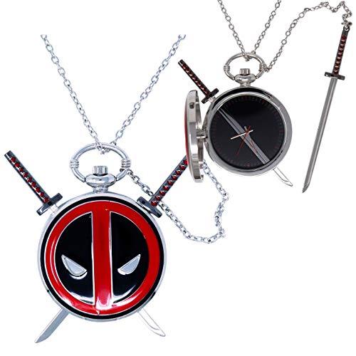 Accutime Deadpool Medaillon Uhr Halskette