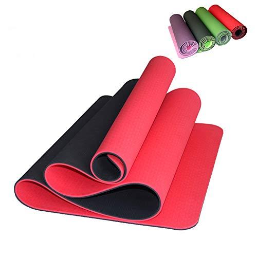 LIJJY Tapis de Yoga Bicolore TPE Pour Tous Les Types de Yoga, de Pilates et d'exercices au sol, de santé et de Remise en Forme,C