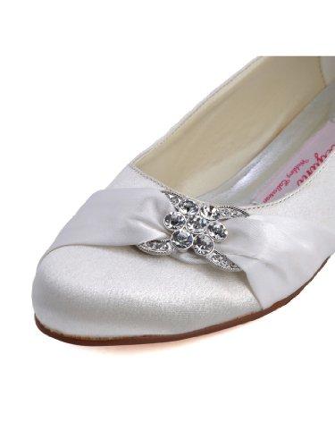 Bequeme flache Brautschuhe Ballerinas | Ivory - 2