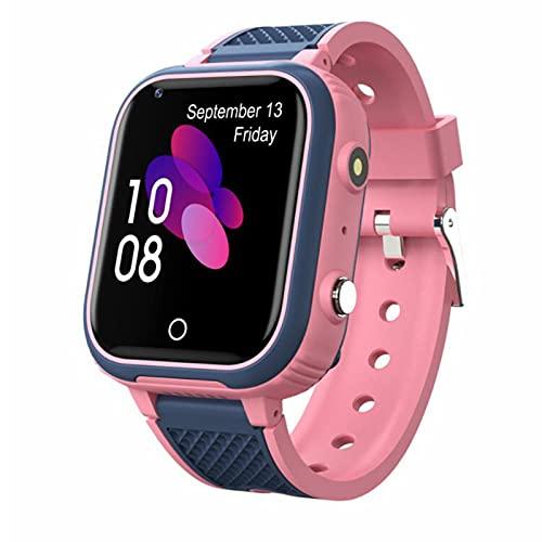 Reloj Inteligente 4G para Niños, Cámara a Prueba de Agua, Videollamada, Pulsera de Posicionamiento para Estudiantes, GPS, Rastreador WiFi, Reloj de Monitor,Pink
