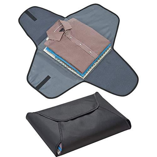 Hemdtas voor 4 kreukvrije overhemden en blouses ook op reis microvezel reiskoffer bagage organizer in zwart van notrash2003