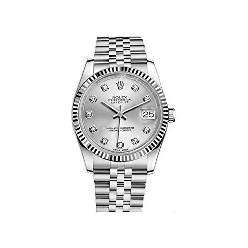 Rolex Datejust 41 126334 - Reloj automático para hombre (acero de 18 quilates, esfera de pizarra, acero inoxidable)