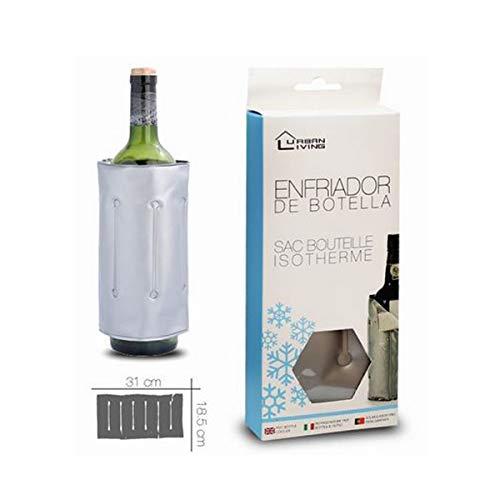 Cisne 2013, S.L. Flaschenkühler, anpassbar, Kühlmanschette zum Kühlen von Flaschen, mit Klettverschluss. 18 x 31 cm.