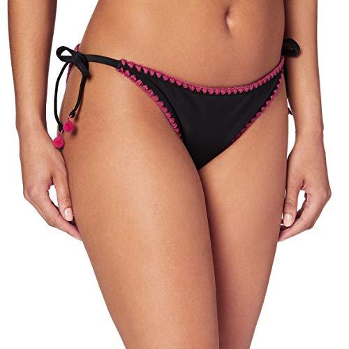 Marca Amazon - IRIS & LILLY Braguita de Bikini Crochet Mujer, Negro (Black), M, Label: M