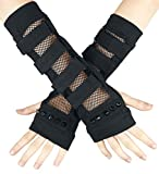 Poizen Industries Fatal Armwarmers Arm Warmers Punk Gothic Mesh Studs Gloves