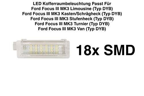 1x 18 SMD LED MODUL Kofferraumbeleuchtung WEIß (7105F)