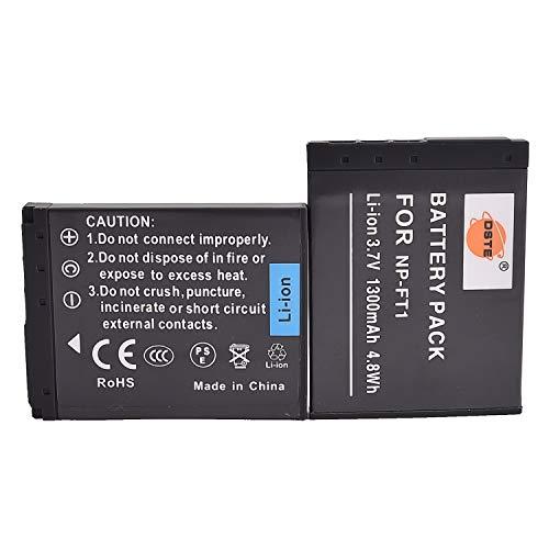 DSTE® 2x NP-FT1 Li-ion Batería para Sony DSC-L1, DSC-L1/B, DSC-L1/L, DSC-L1/LJ, DSC-L1/R, DSC-L1/S, DSC-L1/W, DSC-M1, DSC-M2, DSC-T1, DSC-T10, DSC-T10/B, DSC-T10/P, DSC-T10/W, DSC-T11, DSC-T3, DSC-T33, DSC-T3/B, DSC-T3S, DSC-T5, DSC-T5/B, DSC-T5/N,,DSC-T5/R, DSC-T9