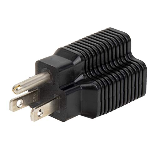 [4-in-1] 15 Amp Household AC Plug to 20 Amp T Blade Female Adapter, Nema 5-15P to 5-20R, 5-15P to 6-15R, 5-15P to 6-20R Plug Outlet, ETL Listed AC Power Adapter Converter,15A 125V to 20A 250V Adapter
