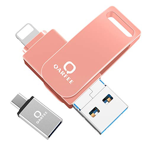 Flash Drive, Photo Stick External Storage Memory Stick Photostick Mobile, Thumb Drive USB 3.0 (64GB, Pink)
