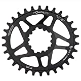 Wolf Tooth Direct-Mount Elliptical/Oval Drop-Stop Chainring for SRAM Direct Mount Cranks (30t)