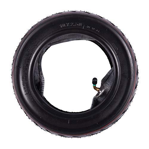 Gaoominy 10X2,5 Vordere/Hintere Roller Reifen Rad Solide mit Schlauch Ersatz für 10 Zoll Elektro Roller Skateboard DIY Ersatz Ersatzreifen